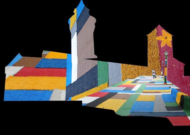 Barbara Engelhard: Burgprojektion Blaue Nacht 2017. Entwurfskizze