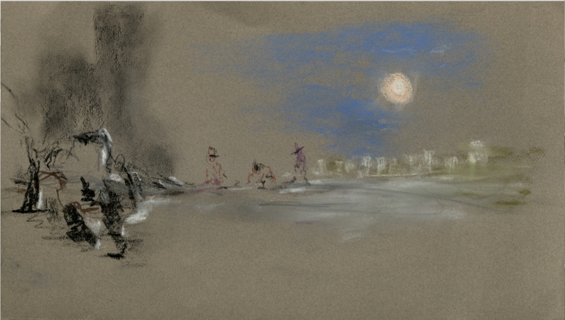 Hasan Balkaya, Zeichnung, Im Chaos des Wirrwarrs der Gefühle, 15.7. – 16.7.2017, Galerie 76 Auf AEG