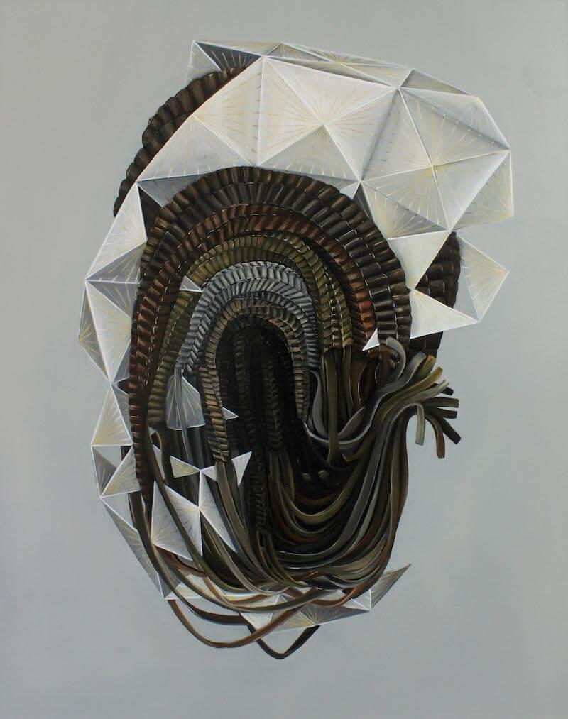 """Mona Ardeleanu """"The Bow 2016/I"""" Öl auf Leinwand/oil on canvas 100 x 80 cm Courtesy Galerie Thomas Fuchs Stuttgart"""