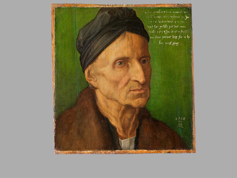 Albrecht Dürer: Bildnis des Malers Michael Wolgemut, 1516 Dauerleihgabe der Bayerischen Staatsgemäldesammlungen Foto: Dirk Messberger