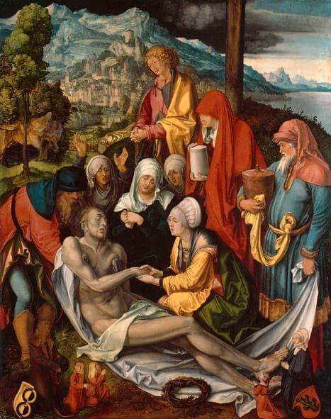 Albrecht Dürer: Beweinung Christi (Glimsche Beweinung), Alte Pinakothek München, Attribution-ShareAlike 4.0 International (CC BY-SA 4.0)