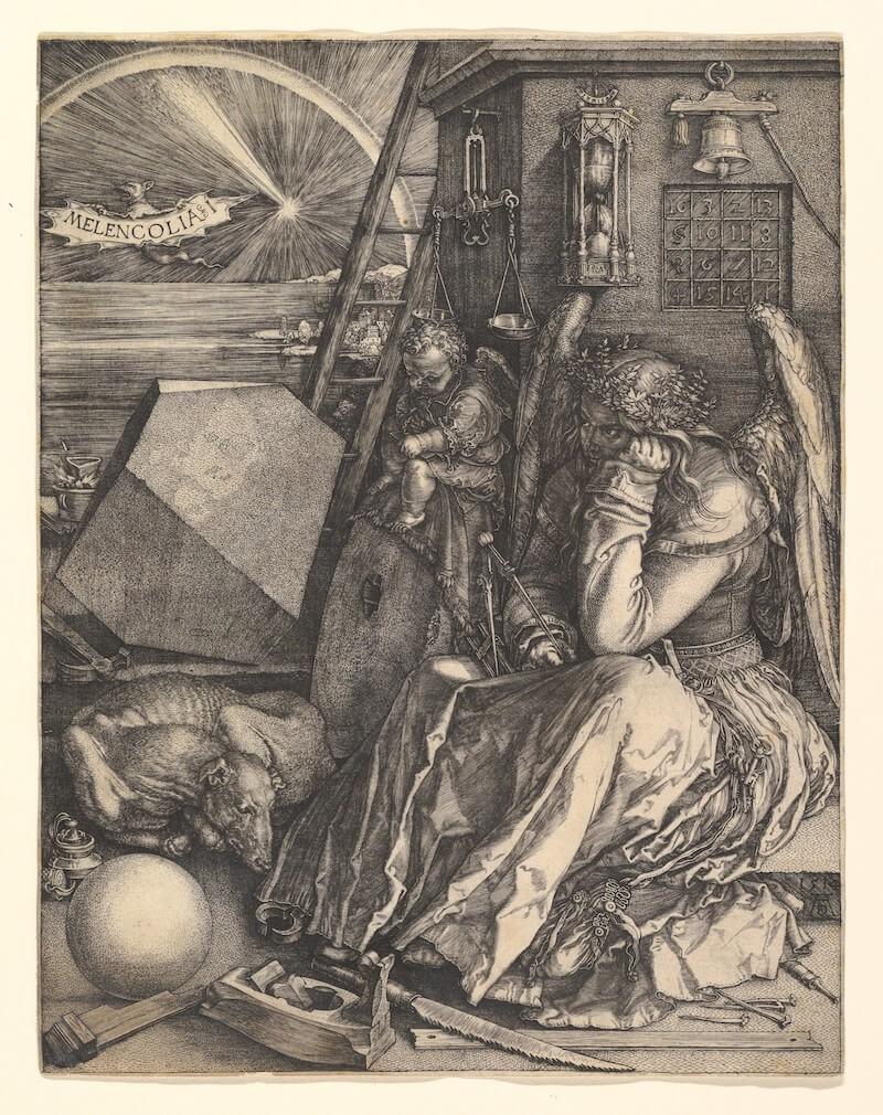 MetMuseum, Public Domain, Albrecht Dürer, Melancolia I, DP820348, CC0 1.0 Universal (CC0 1.0)