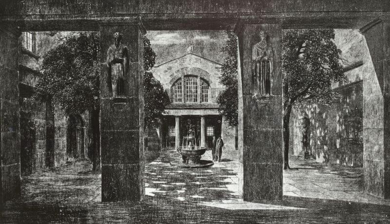 German Bestelmayer: Entwurf zur Eingangshalle im Vorhof des Germanischen National- museums, Dresden 1914 Verbleib unbekannt