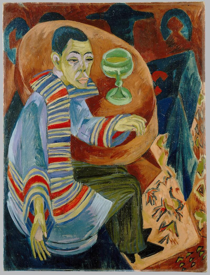 Ernst Ludwig Kirchner: Selbstporträt als Trinker, 1914 Foto: GNM, Monika Runge
