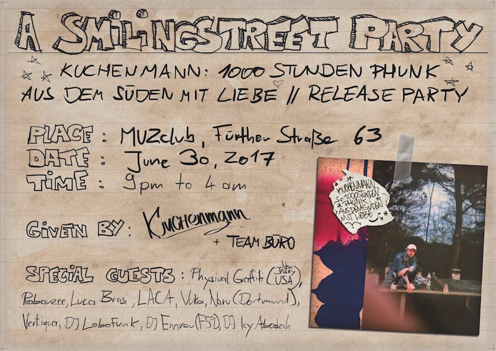 Kuchenmann: 1000 Stunden Phunk - Aus dem Süden Mit Liebe + Special Guests, 30. Juni 2017, MUZ Club
