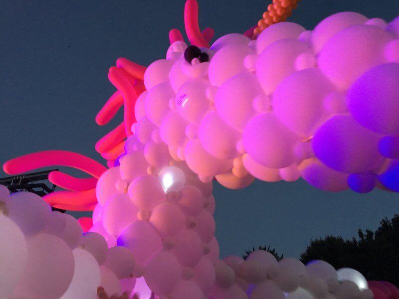 Ballonkünstler Micha de Haan bei Wolke Sieben 2017 in Nürnberg, Foto: Kunstnürnberg