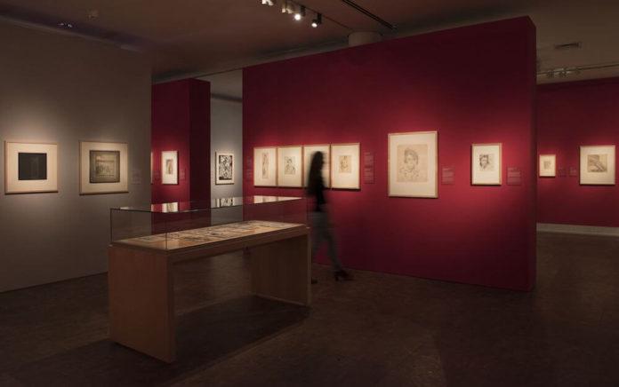 """Blicke in den Ausstellungsraum """"Von Kirchner bis Baselitz"""" Foto: Studio Dirk Messberger"""