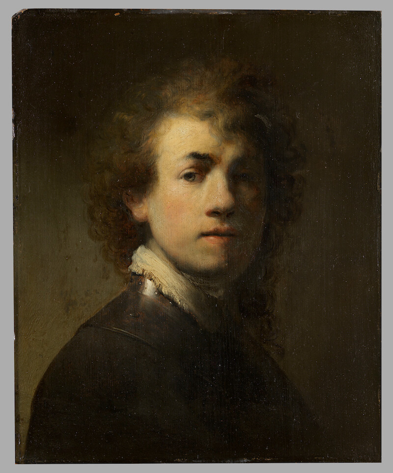 Rembrandt Harmensz. van Rijn: Selbstbildnis mit Halsberge, um 1629 Dauerleihgabe der Museen der Stadt Nürnberg Foto: GNM, Dirk Messberger