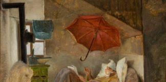 Carl Spitzweg: Studie zu Der arme Poet, 1837, Öl auf Karton, 32 x 42,6 cm, Grohmann Museum Collection at Milwaukee School of Engineering, Milwaukee, WI (USA), Foto: Larry Sanders, Milwaukee, WI (USA)