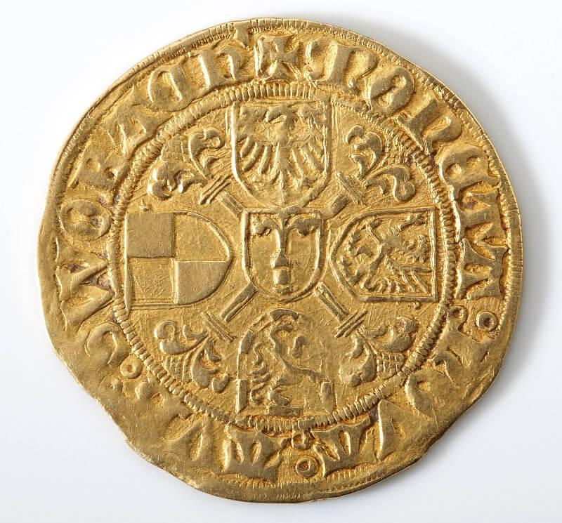 Goldgulden der fränkischen Hohenzollern, wohl 1470-1486 © Bayerische Schlösserverwaltung