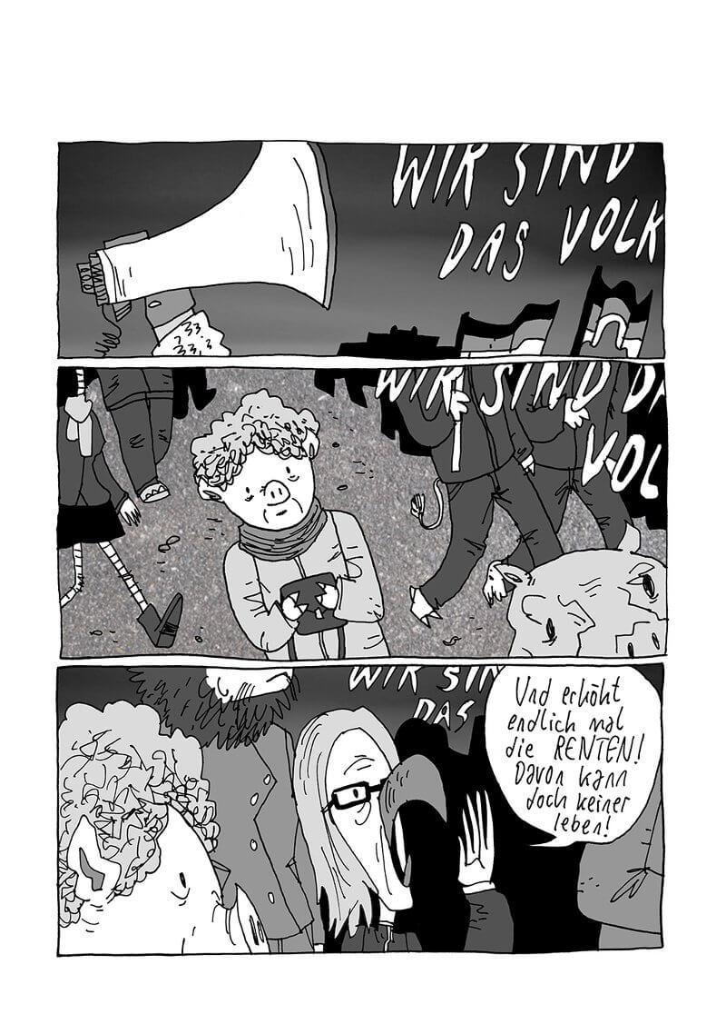 """Jeff Chi: Seite aus """"Pegida"""" aus """"Comic Culture Clash"""""""