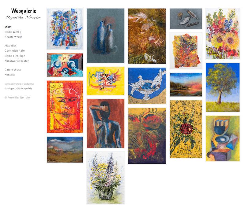 Webseite der Künstlerin Roswitha Nerreter