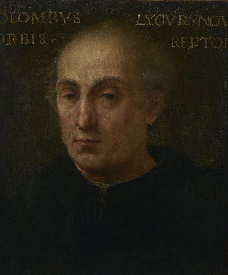 Bildnis des Christopher Kolumbus, Italien, um 1520/40 Malerei auf Leinwand 48 cm hoch x 41 cm breit Pinacoteca Civica Como