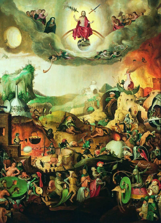 Pieter Huys oder Jan Mandijn (Nachfolge?): Jüngstes Gericht mit Bestrafung der Verdammten, um 1560/70 Malerei auf Holztafel 129 cm hoch x 96 cm breit Stadtmuseum Simeonstift Trier