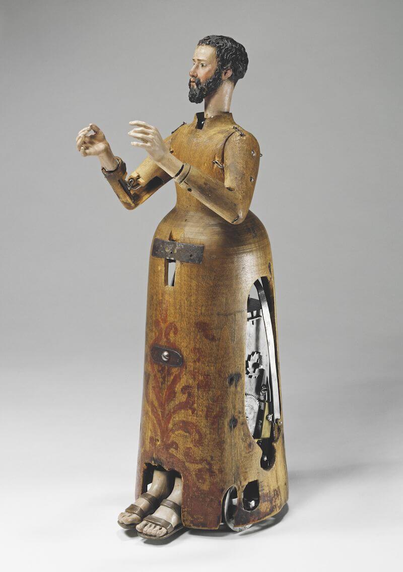 Automat in Mönchsgestalt, Süddeutschland oder Spanien, um 1560 Pappelholz, Eisen 39,7 cm hoch x 12,5 cm breit x 18 cm tief Deutsches Museum, München