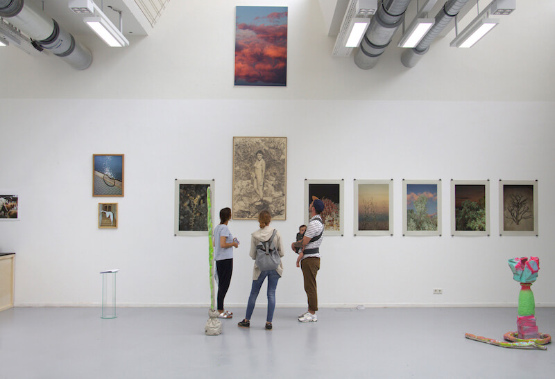 Ausstellungsansicht, Jahresausstellung 2017 an der Akademie der Bildenden Künste Nürnberg