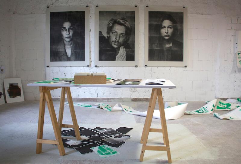 Ausstellungsansicht, Vordiplom 2015 im Z-Bau, Nürnberg
