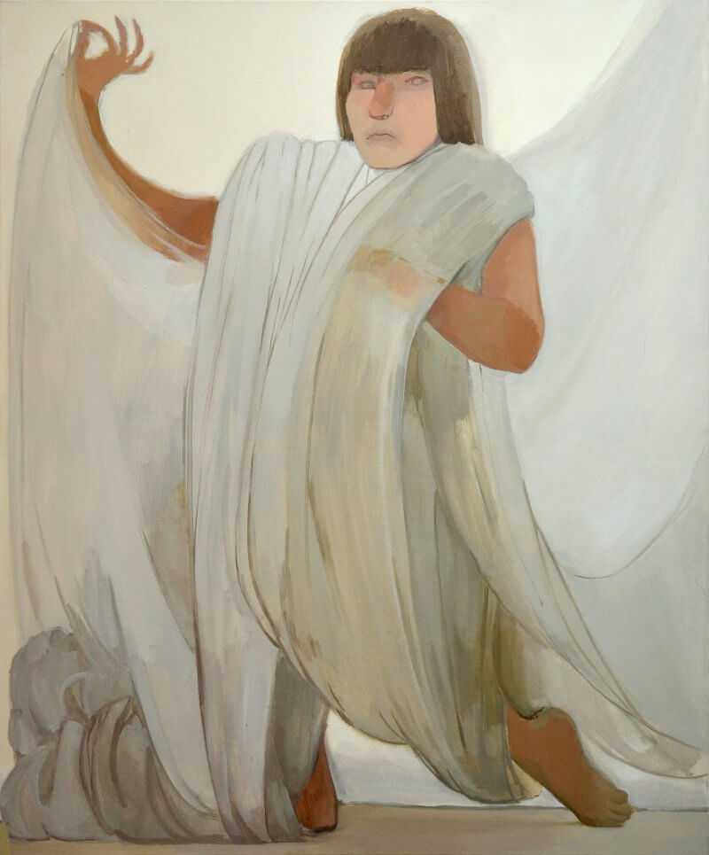 Fatma Güdü, Lerche, 2016, Öl auf Leinwand, 120x100cm