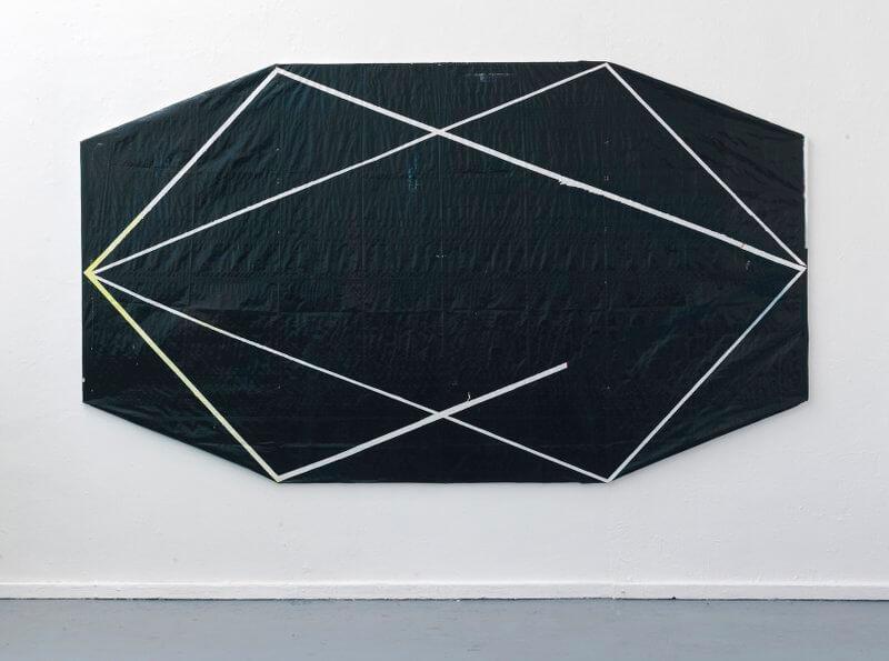 Karina Kueffner, Matrix, 2016, Acryl, PE-Folie auf Holzrahmen