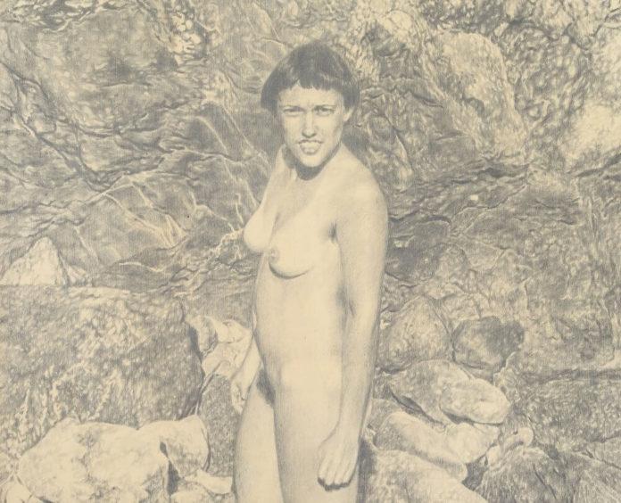 Meike Männel: Divine, 2017, 90 cm x 140 cm, Graphitzeichnung auf Holz, Ausschnitt