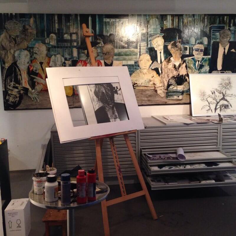 Ateliertage vom 18. bis 26. November 2017 bei Fatma Yavuz (Goldschmiedin), Doris Braune-Mangold (Malerei) und Günter Schmidt-Klör (Malerei, Bildhauerei)