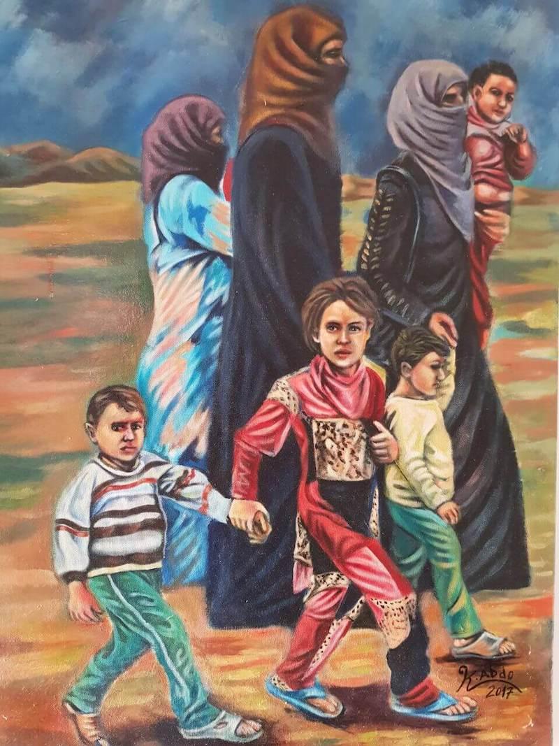 Khaleb Abdo: Flucht