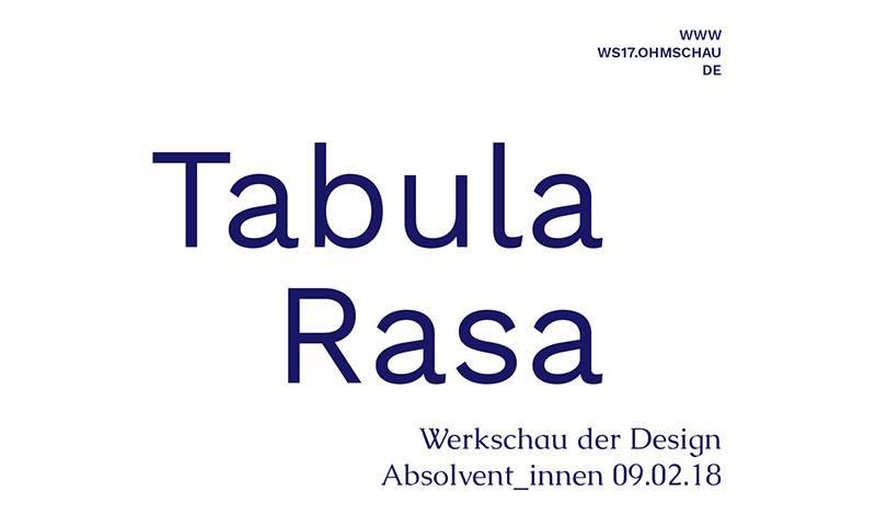 Tabula rasa: Werkschau – Bachelor Design der TH Nürnberg