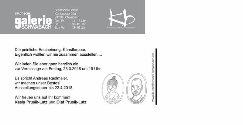 Kasia und Olaf Prusik-Lutz, Künstlerpaar, Städtische Galerie Schwabach