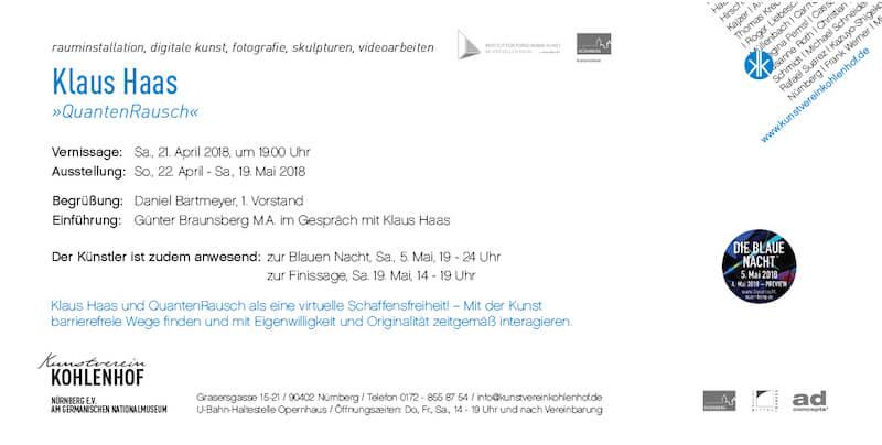 Klaus Haas: Quantenrausch, Kunstverein Kohlenhof
