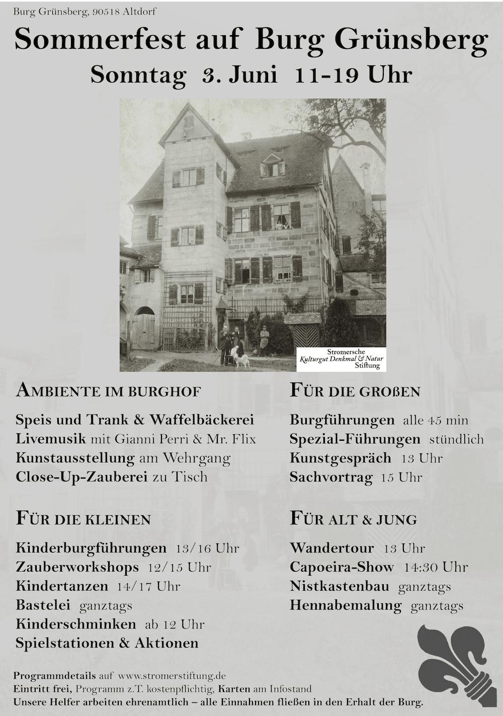 Sommerfest 2018 der Burg Grünsberg