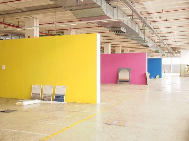 Werkschau 2018, Auf AEG, Aufbau der Ausstellung © Daniel Bischoff, 2018