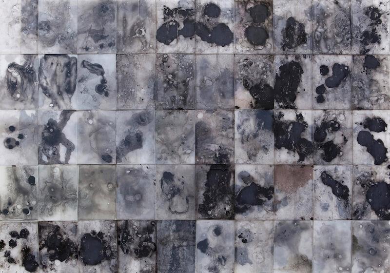 Victoria Hertel: Cerebrum 2014 • Acryl, Tinte, Harz auf Polyester • 105 x 148 cm