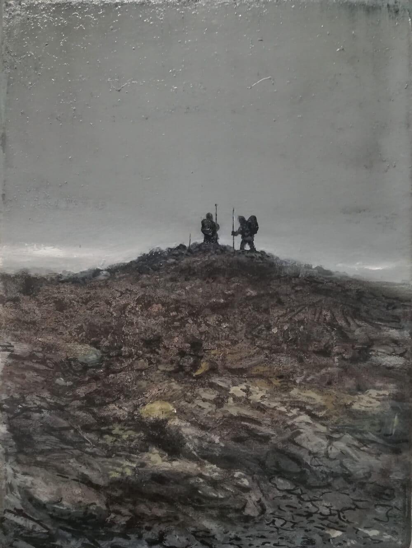 2018 ÷l auf Leinwand 24 x 18 cm, Foto: Jan Gemeinhardt