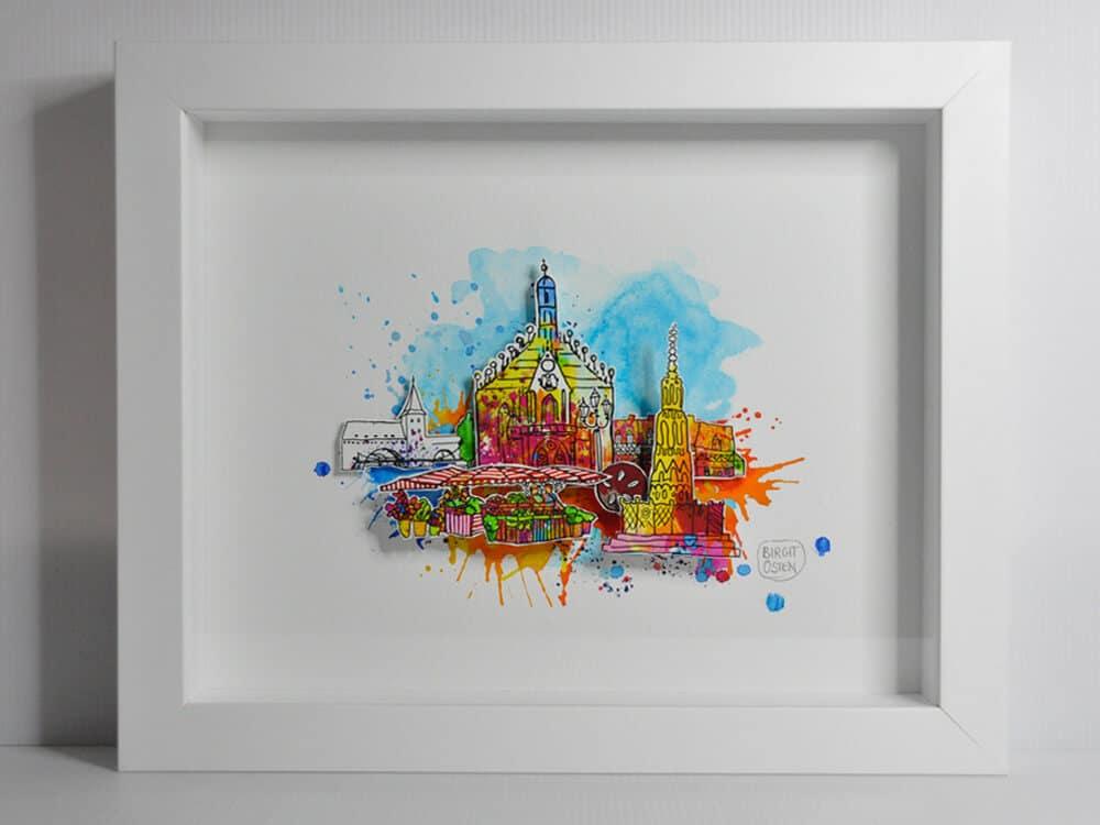 """3D CityArt """"Haupt- markt"""", © Birgit Osten"""