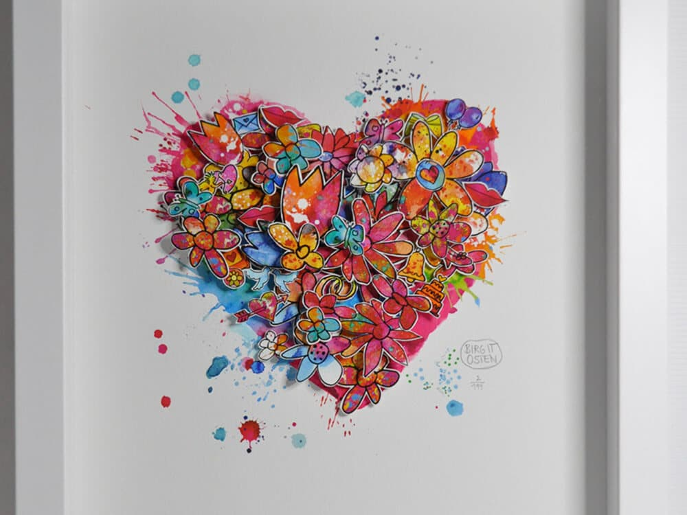 "3D CityArt ""Forever Love"", © Birgit Osten"