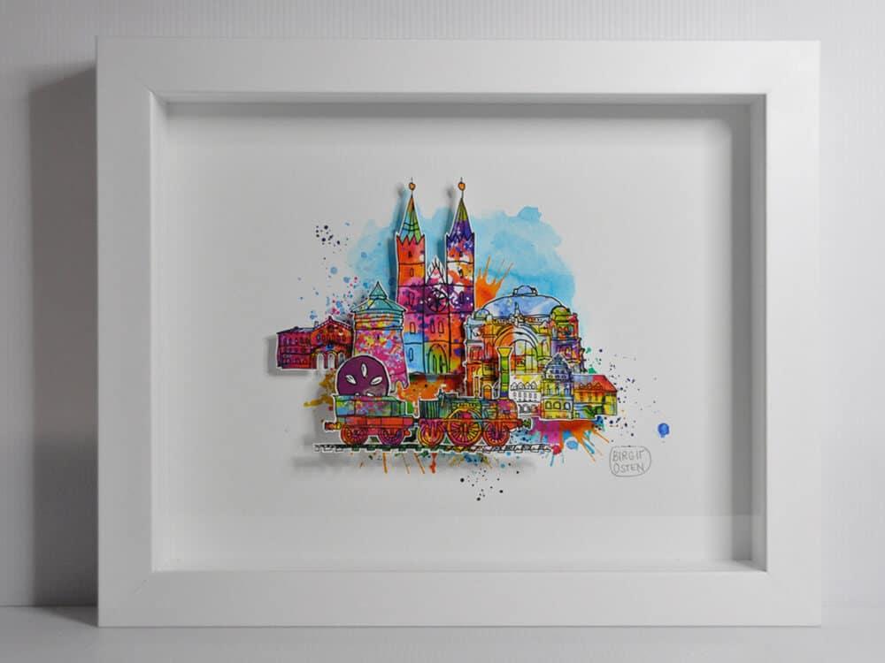 "3D CityArt ""Adler-lok"", © Birgit Osten"