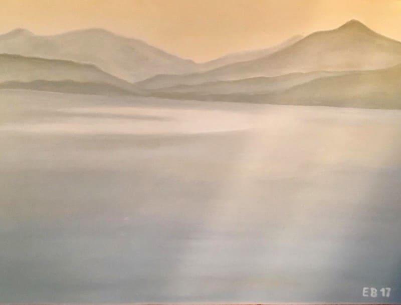 Edda Böhm: Morgenstimmung am Lago Maggiore