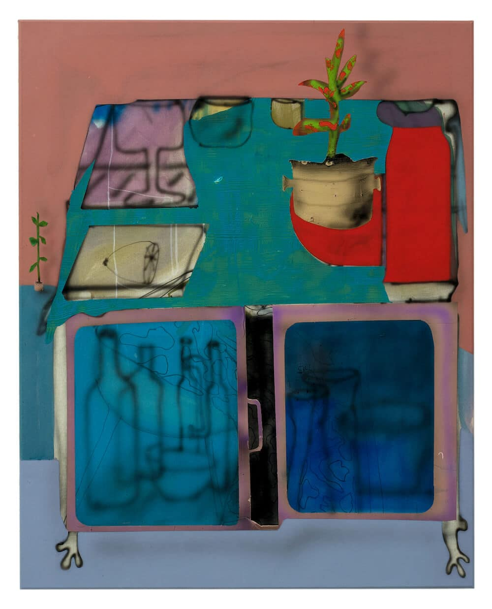 Fabian Treiber: Minibar, 2018, 100 x 80 cm, (c) Künstler, Privatbesitz