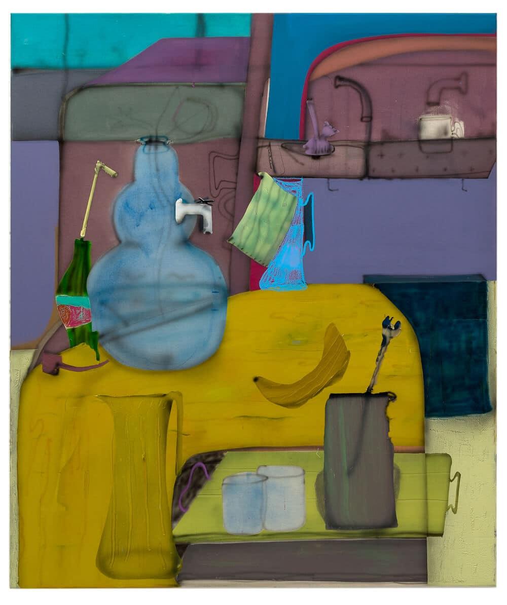 Fabian Treiber: Yellowtable, 2018, 130 x 110 cm, (c) Künstler