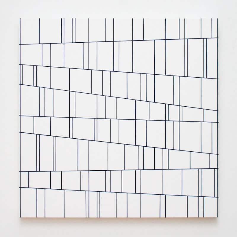 LIBARANY, 2017, Acryl auf Leinwand, 80x80x4 cm, © Gerhard Hotter