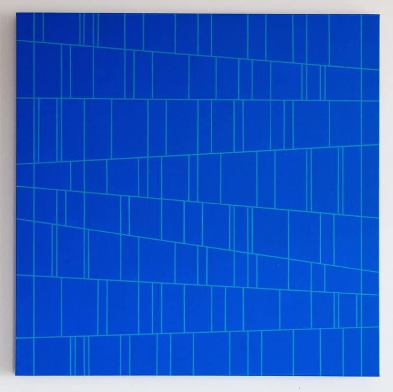 MANESTOR, 2018, Acryl auf Leinwand auf Holzkorpus, 80x80x6 cm, © Gerhard Hotter