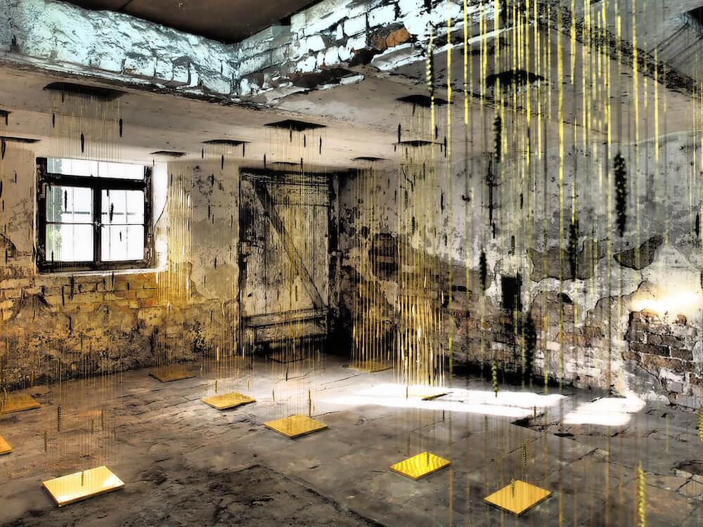Susanne Ruoff: Rieselgut, ortung X, 2017