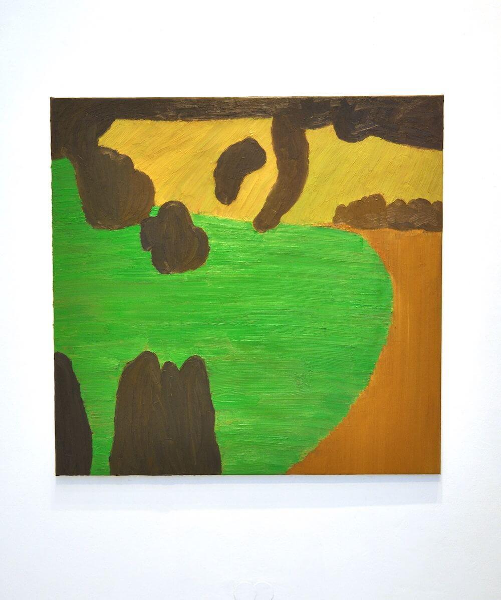 Christian Hiegle, o.T., 2018, Öl auf Leinwand, 145x149 cm