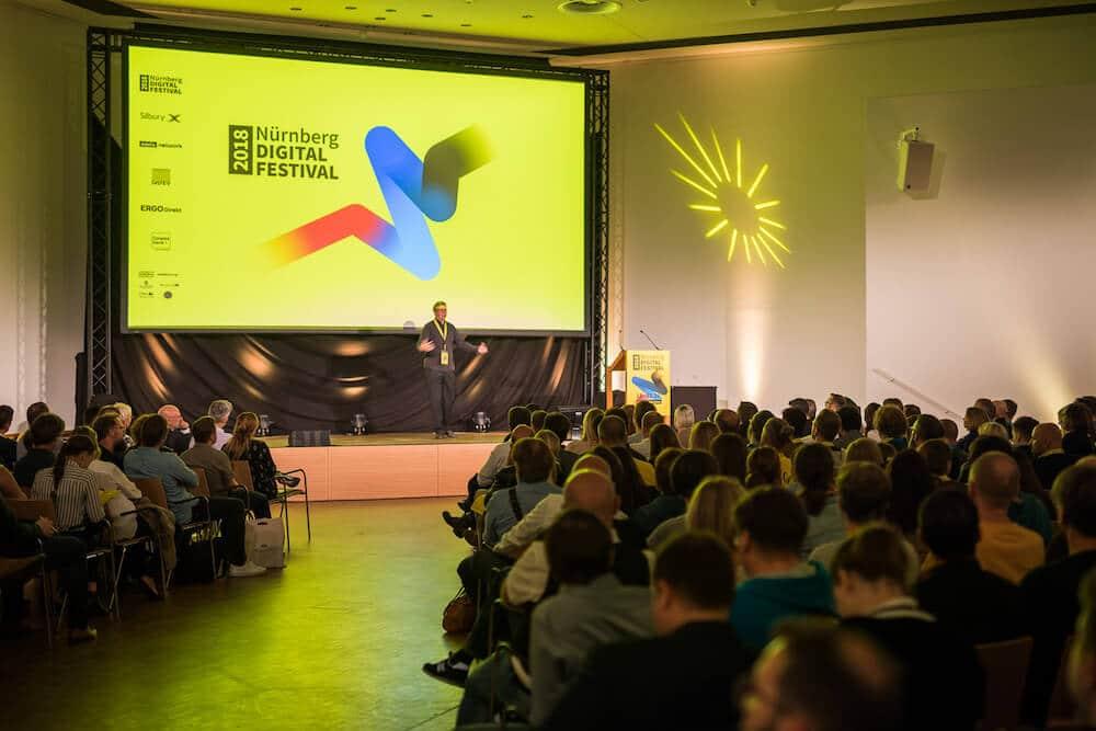 Voller Saal bei der Opening Night des Nürnberg Digital Festival 2018. © Christian Mielke - Nürnberg Digital Festival