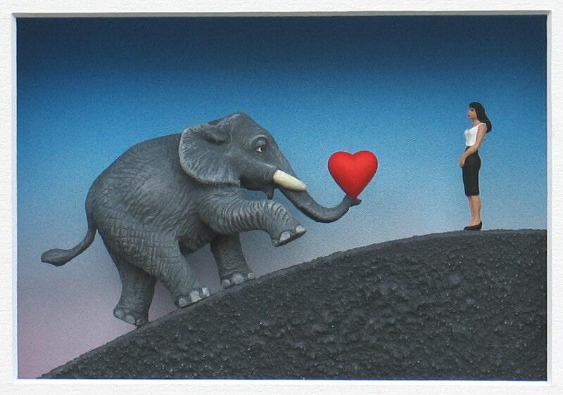 Ich bin ein Elefant, Madame, © Volker Kühn/Galerie Zimmermann & Heitmann