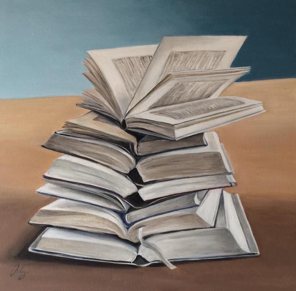 Blattwerk - aufgeschlagen, © Johanna Lang