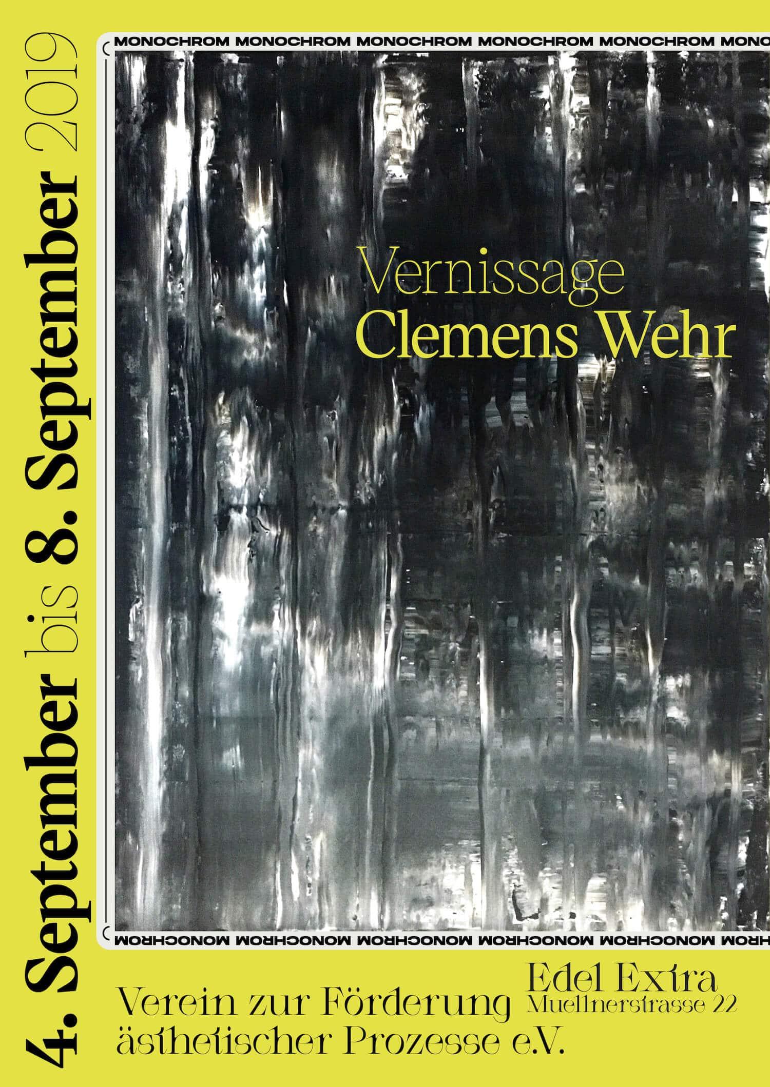 Clemens Wehr: Monochrom, 2019