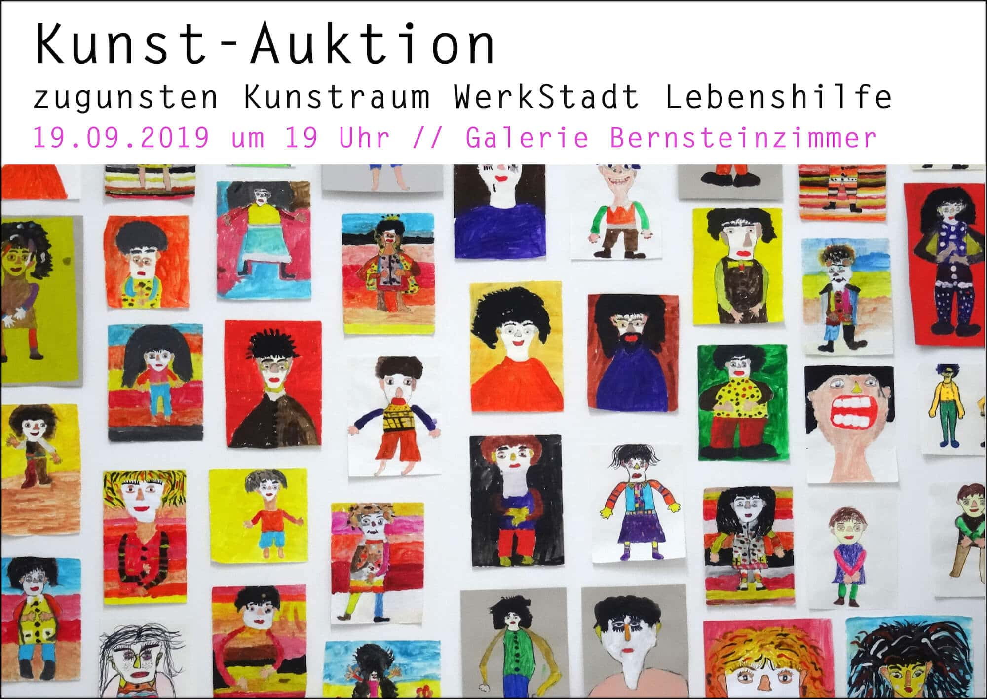 Auktion zugunsten des KUNSTRAUMS der WerkStadt Lebenshilfe im Bernsteinzimmer, 19. September 2019
