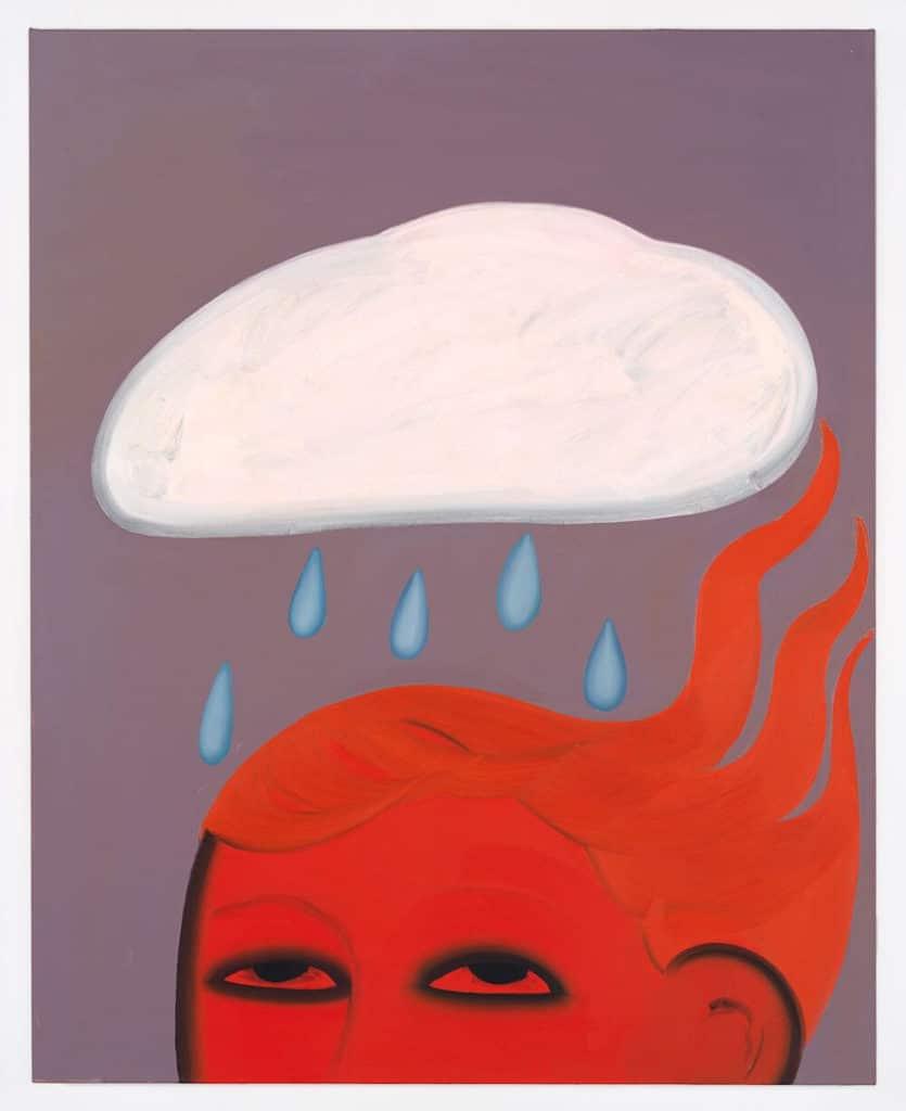 """Cloudburst"", 2019, Öl auf Leinwand, ca. 130 x 104 cm, Courtesy Soy Capitán, Berlin, Foto: Nick Ash"