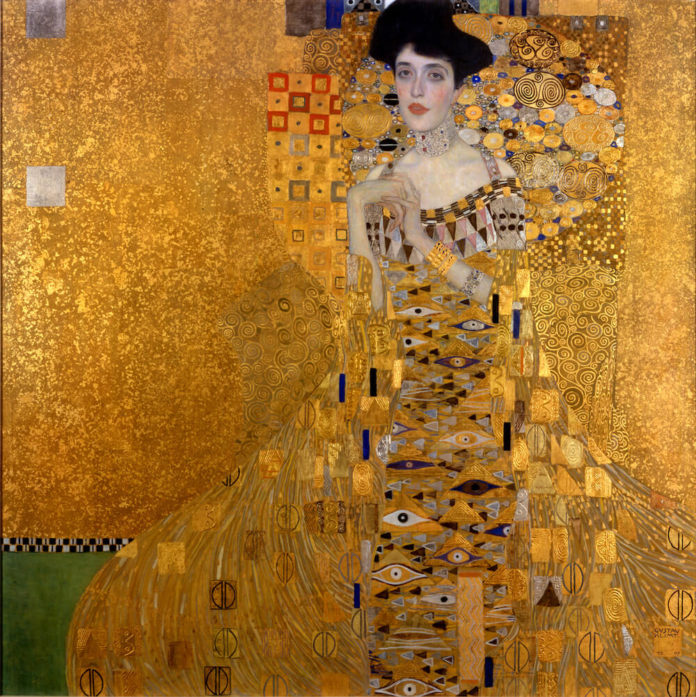 Gustav Klimt: Adele Bloch-Bauer I, 1907 Öl, Silber und Gold auf Leinwand 138× 138cm Neue Galerie (New York), Foto: Wikipedia